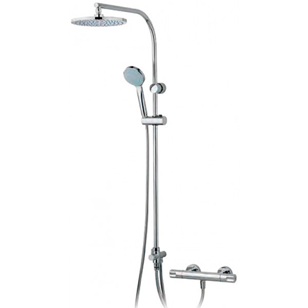 Termostática de ducha tender con columna