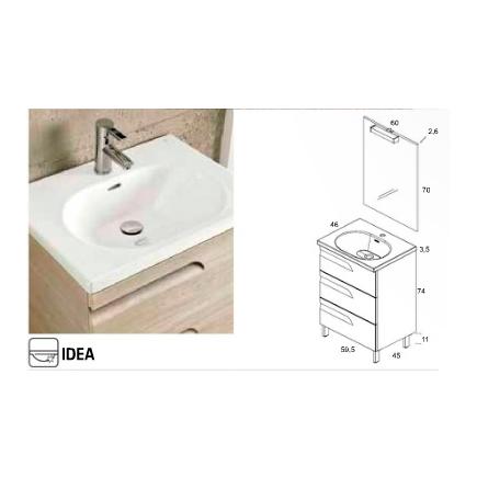 Medidas del lavabo IDEA