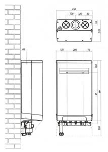 medidas de la caldera-kompakt